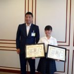 NHK杯全国大会出場報告で四日市市長表敬訪問