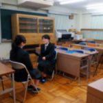 全国高等学校英語スピーチコンテスト東海北陸ブロック大会出場の1年生を取材