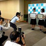 鈴鹿市長表敬訪問、中日新聞に掲載していただきました